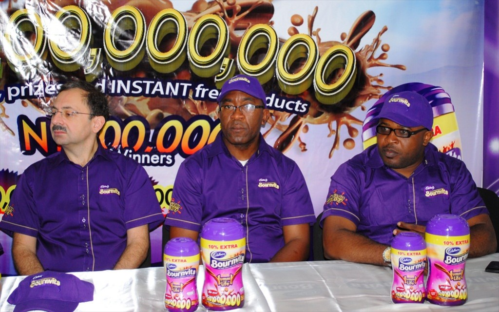 Emil Moskofian (Managing Director, Cadbury Nigeria Plc West Africa), Paul Udochi (Sales Director, Cadbury Nigeria Plc) & Kufre Ekanem (Corporate Affairs Manager, Cadbury Nigeria Plc West Africa)