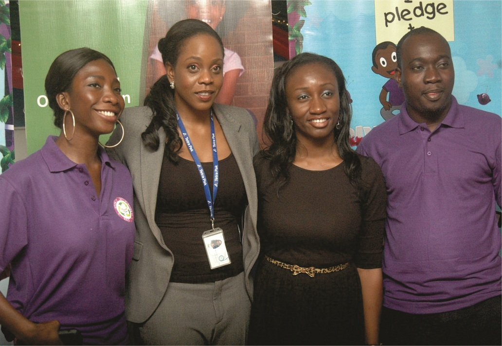 "L-R: Ms. Adeola Fadipe, Marketing Executive, Nutritions, GSK; Ms. Chidilim Menakaye, West Africa Communications Manager, Tetra Pak; Itunu Ogundepo, Environment Manager, Tetra Pak; and Mr. Olawale Akanbi, Brand Manager, Ribena, at the press announcement of a Ribena-Tetra Pak joint recycle project tagged ""drink it, flatten it and bin it"" campaign, in Lagos recent"