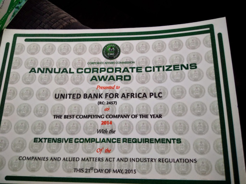 Be-Corporate Citizens award