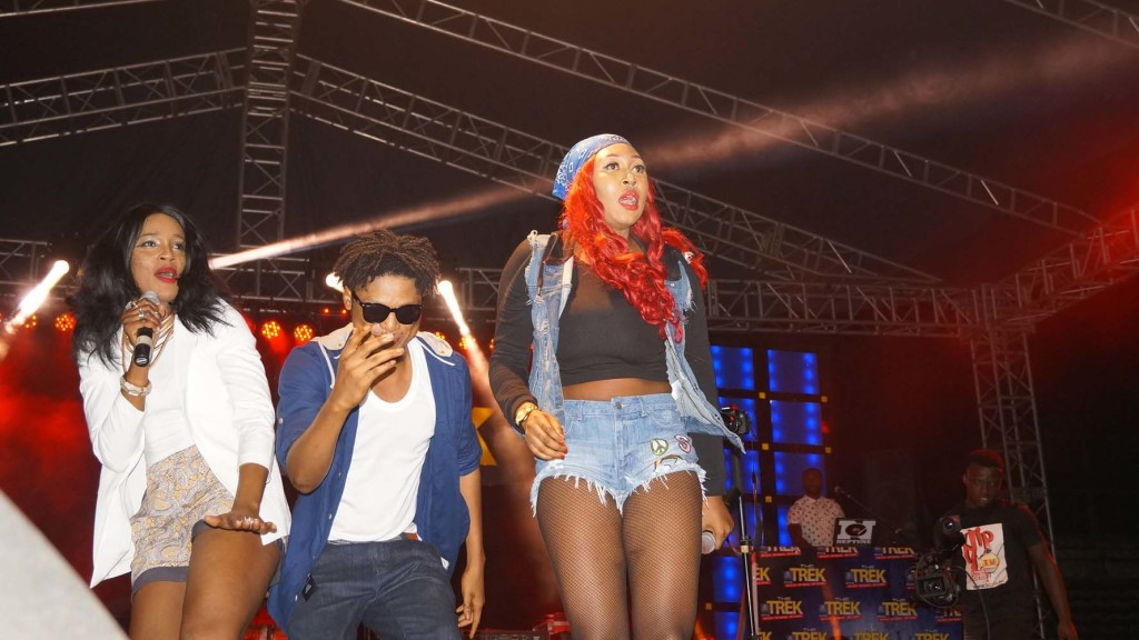 Cynthia Morgan and Seyi Shay onstage
