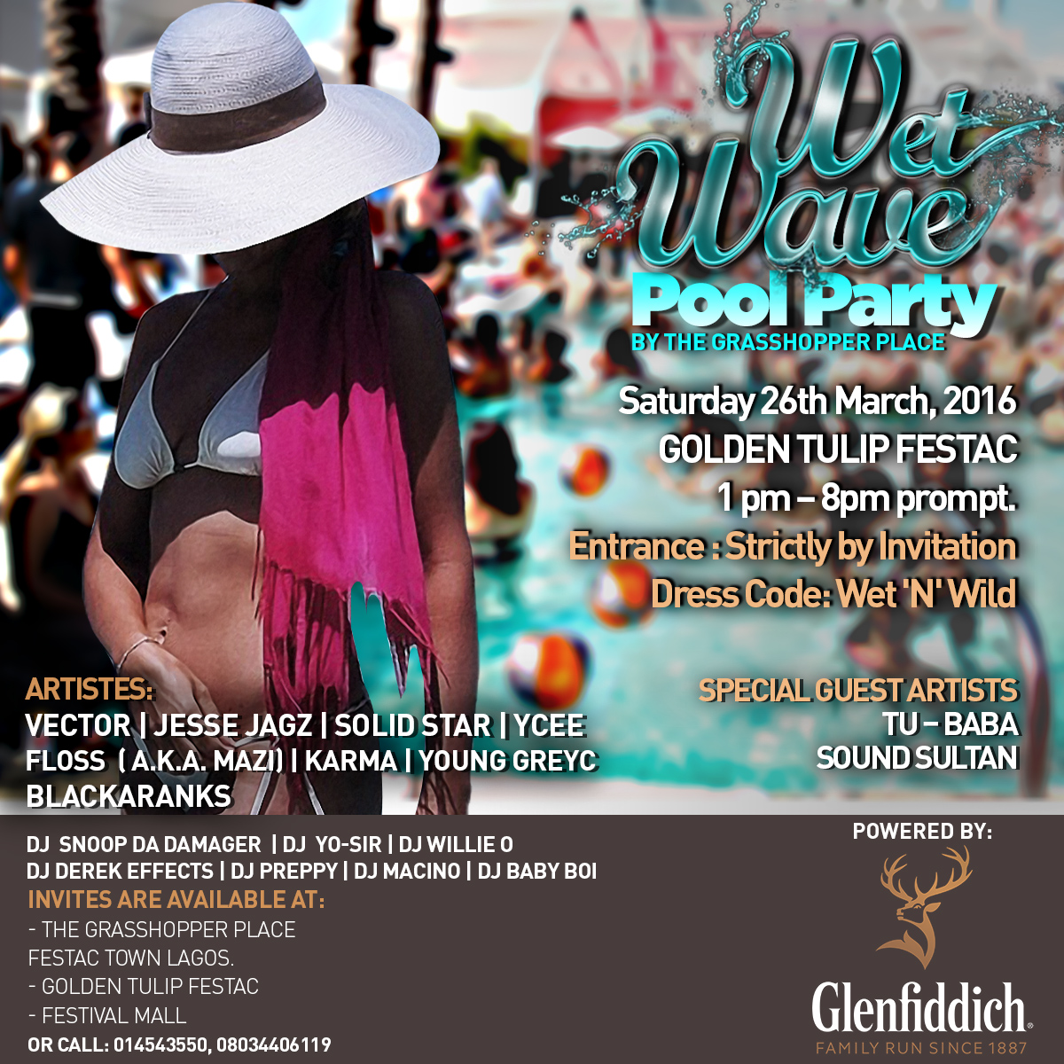 The Wet-wave Pool Party by Grasshopper and Glenffiddich Whisky in ...