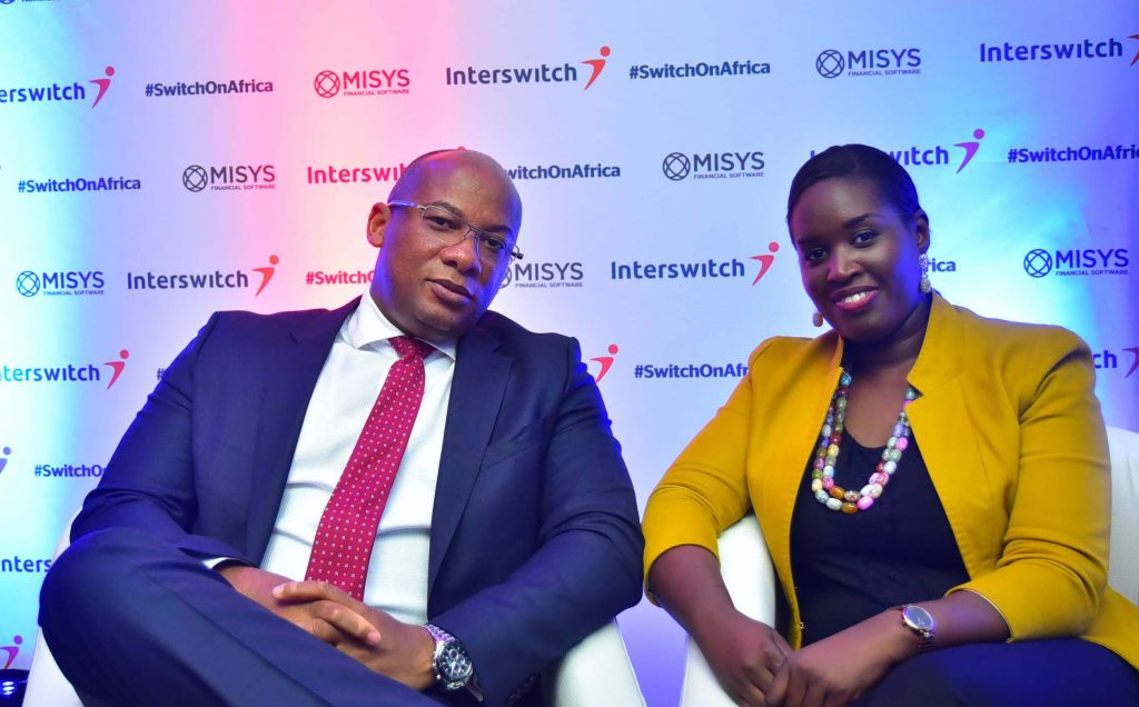 Gansirey Seck, Regional Manager, Misys West Africa with Mitchell Elegbe, GMD:CEO, Interswitch during the launch of the partnership in Lagos