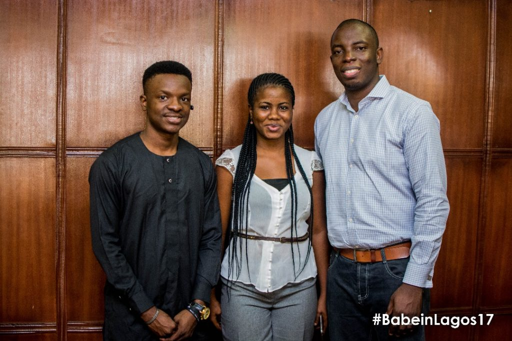 (From L-R CEO Media Panache Nigeria, Timilehin Bello, Business Executive Media Panache Nigeria, Okhabu Tomiwa, and CEO Whogohost, Toba Obaniyi