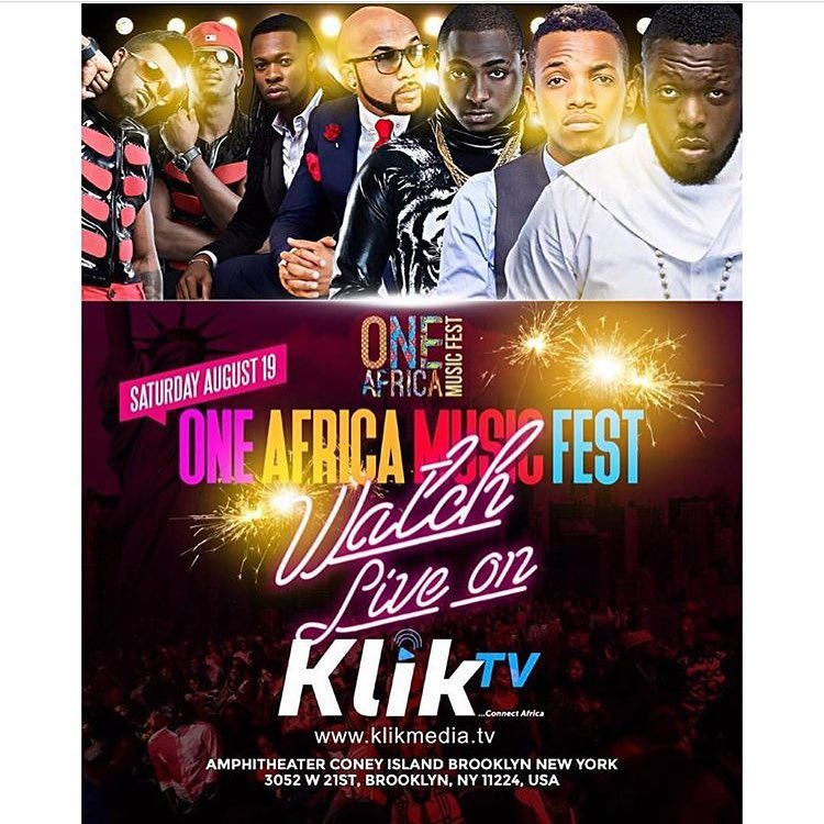 One Africa Music Festival Grants Klik TV Exclusive Live Broadcast for Concert - Brand Spur