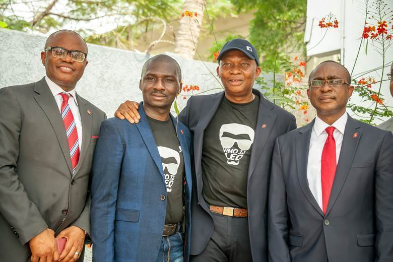 CEO, UBA Francophone Africa, UBA Plc, Mr. Emeke Iweriebor; Group Head, Online Banking, UBA Plc, Mr. Austin Abolusoro; GMD/CEO,  UBA Plc, Mr. Kennedy Uzoka; and Executive Director and Group Chief Operations Officer, UBA Plc, Mr. Chukwuma Nweke, during the launch and  introduction of Leo, a Chat Banking Personality on  Social Media Platforms by UBA in Lagos on Thursday