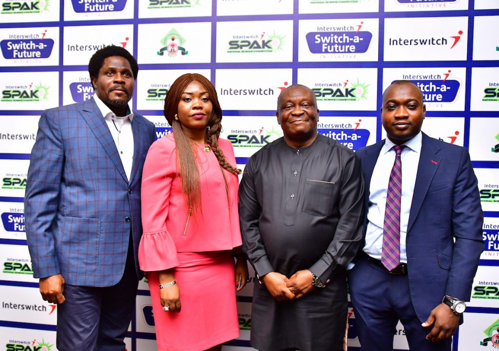 Oladipo Ojo, MD, just Media, Cherry Eromosele, CMO, Interswitch, Prof. Charles Uwakwe, Registrar, NECO and Olawale Akanbi, Marketing Manager, Interswitch