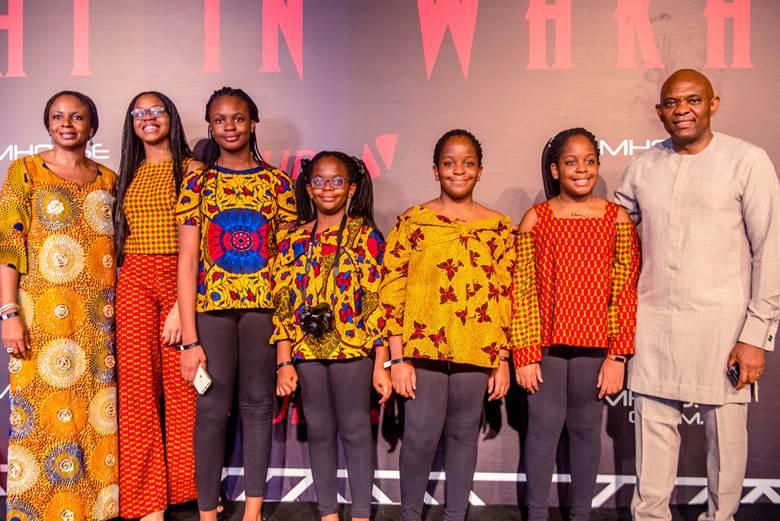 Tony Elumelu, wife, Awele and children