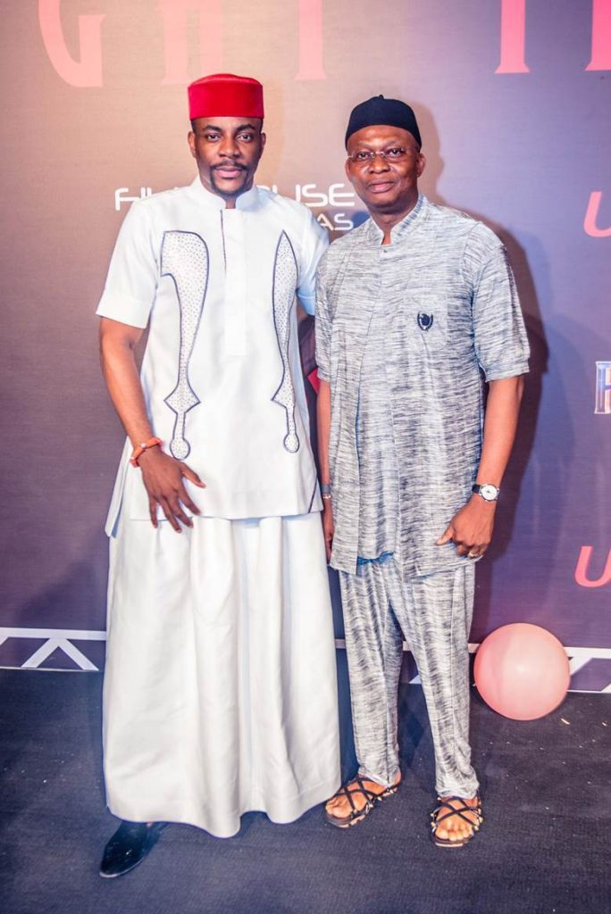 TV personality Ebuka Obi-Uchendu and GMD/CEO, UBA Plc, Mr. Kennedy Uzoka