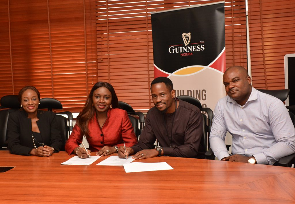 Sustainable Development & Alcohol in Society Manager, Guinness Nigeria, Titilola Alabi; Corporate Relations Director, Guinness Nigeria Plc, Viola Graham-Douglas; Chief Executive Officer, Wecyclers, Olawale Adebiyi, and Head, Brand Protection and Corporate Security, Guinness Nigeria, Kingsely Onyeoziri at the MoU signing ceremony between Guinness Nigeria Plc and Wecyclers.