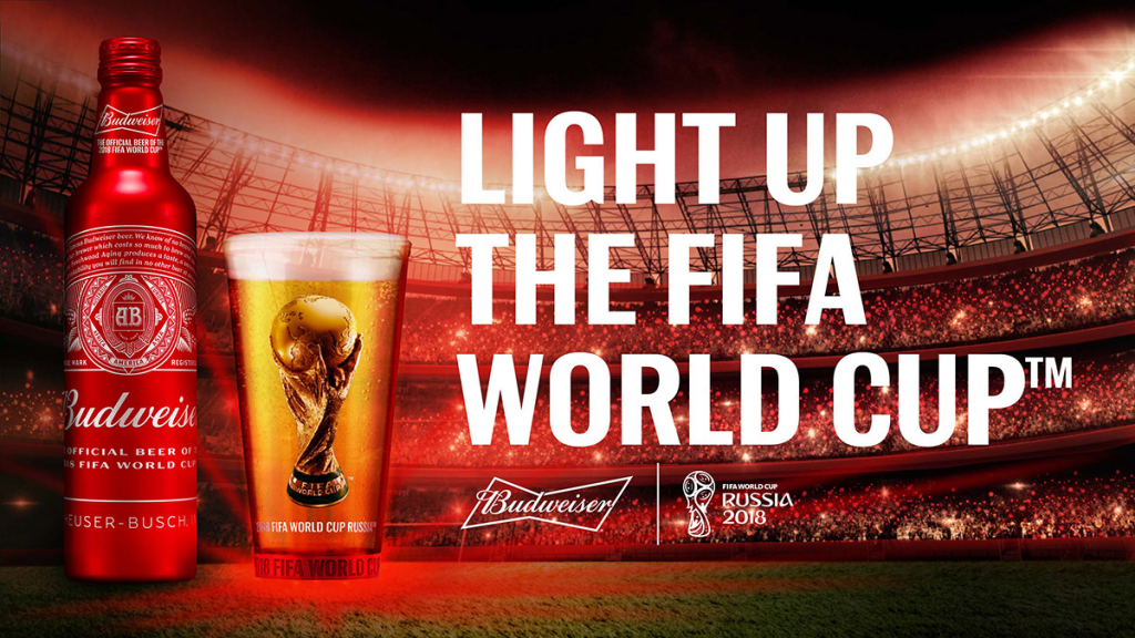 "Budweiser wants to ""Light Up"" the World Cup"