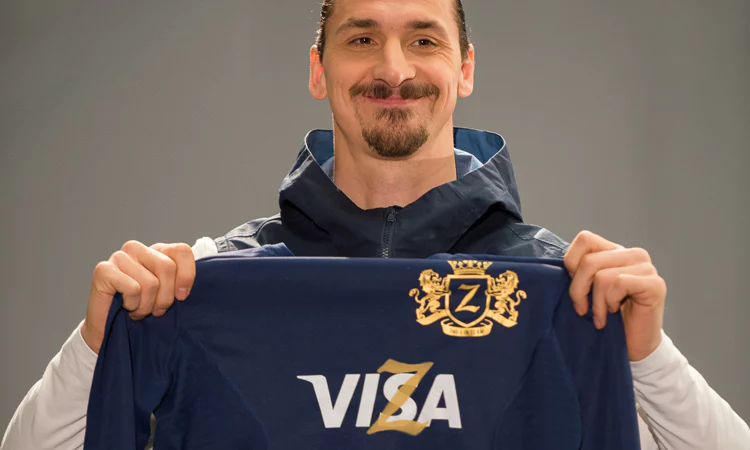 Zlatan Ibrahimovic Signs as New Face for Visa global Campaign
