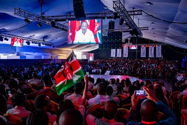 President Uhuru Kenyatta, President of Kenya addressing young African entrepreneurs at the 2018 TEF Entrepreneurship Forum