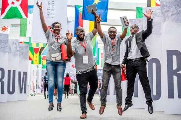 A cross-section of excited young African entrepreneurs at the 2018 TEF Entrepreneurship Forum
