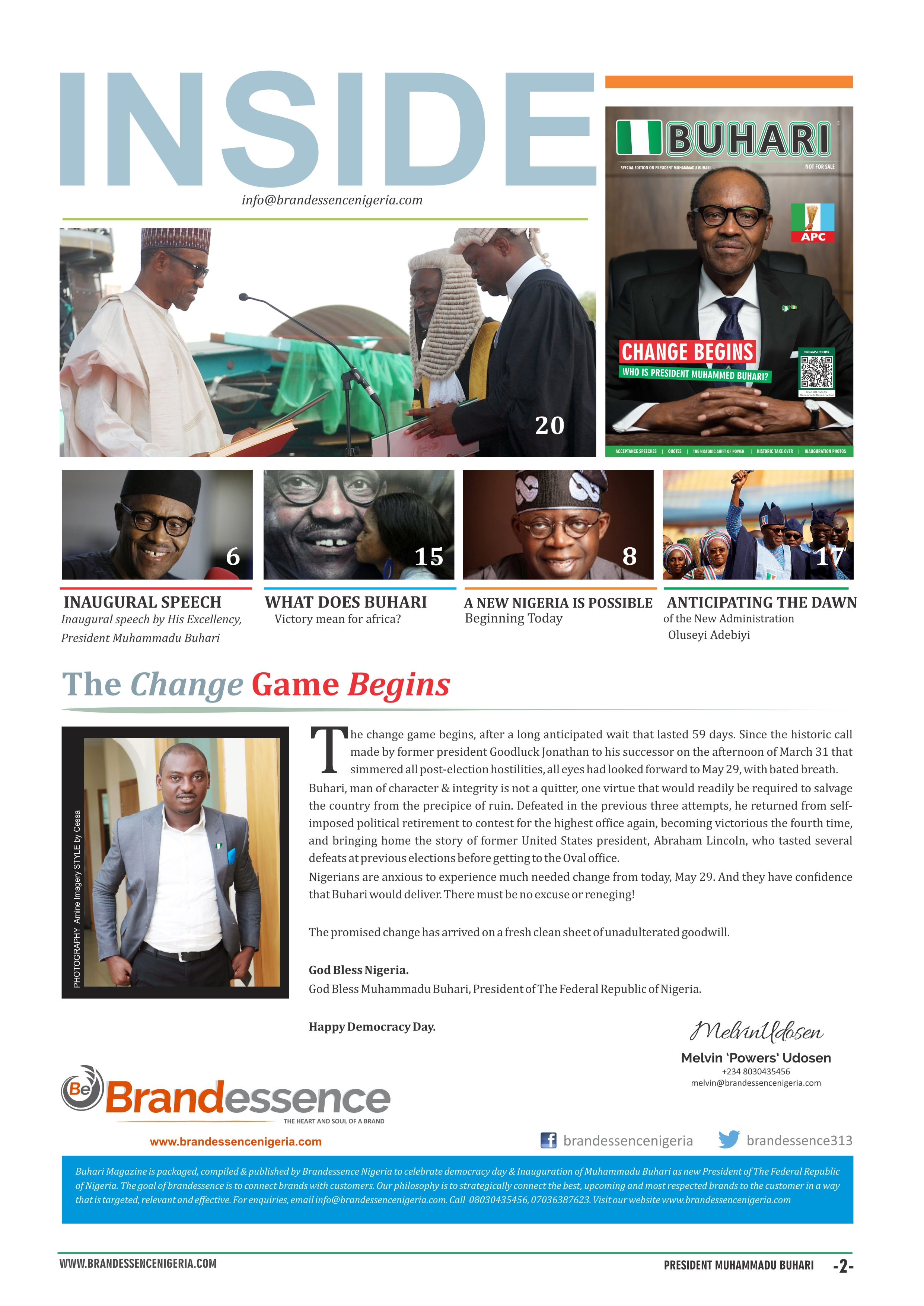 Brandessence Nigeria: Download Free Online Magazine on President